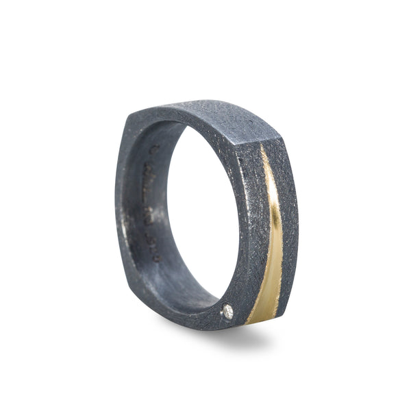 Textured Mens Wedding Ring