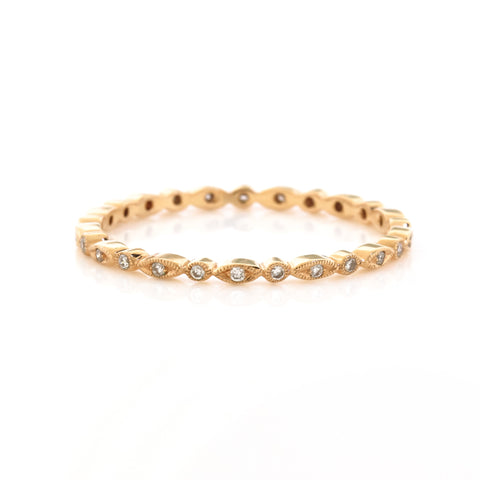 Beverley K Rose Gold 'Mini' Diamond Eternity Band