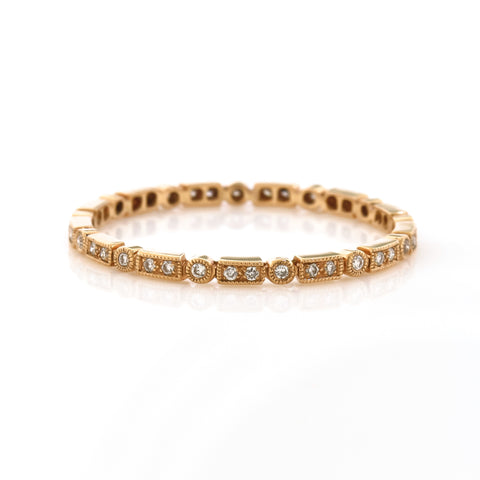 "Rose Gold ""Mini"" Diamond Eternity Band"