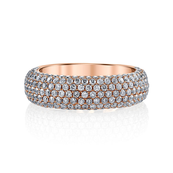 Pave Diamond Ring in Rose Gold