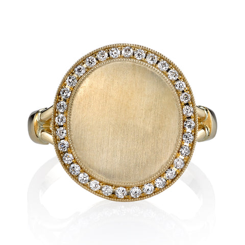 Single Stone Diamond Signet Ring