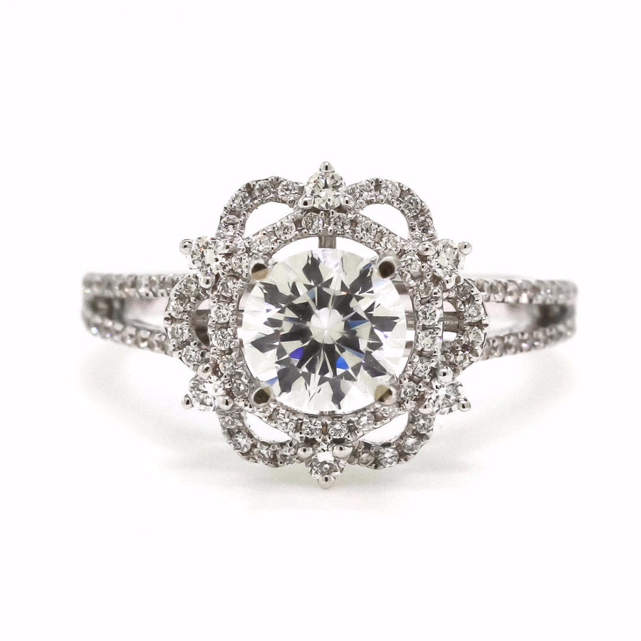 Vintage Inspired Diamond Engagement Ring by Harold Stevens