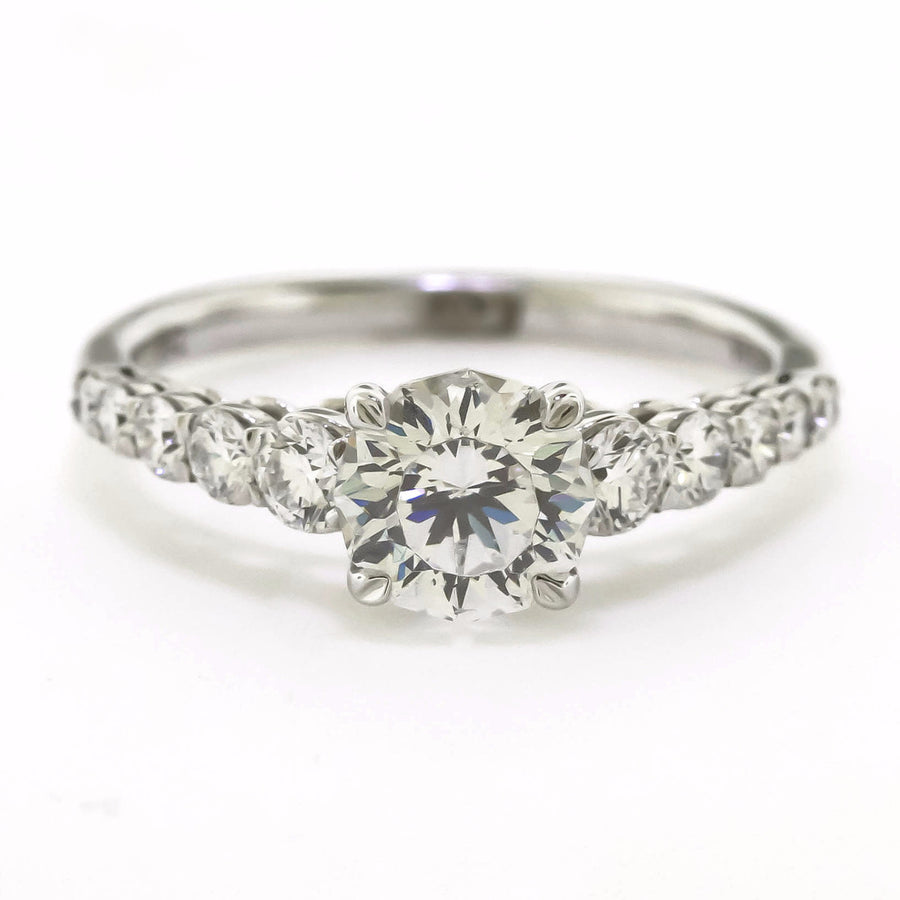 Graduated Diamond Engagement Ring Setting by Harold Stevens