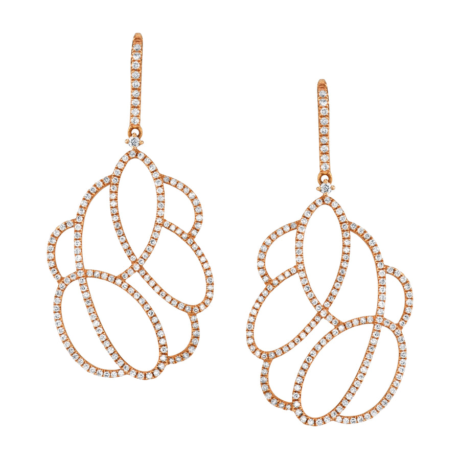 Swirling Diamond Drop Earrings