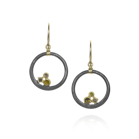Todd Reed Circular Drop Earrings