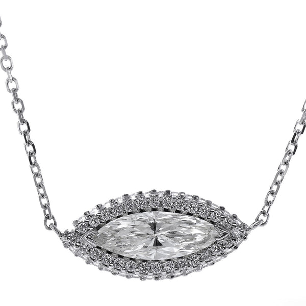 Custom Marquise Diamond Pendant Necklace