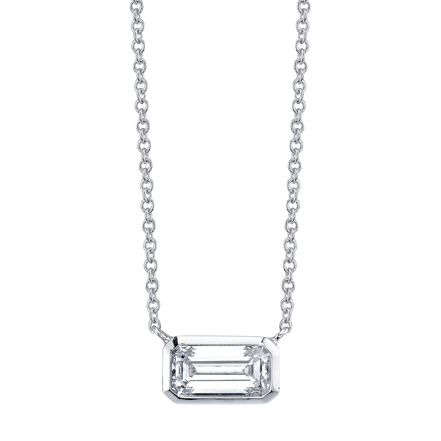 Horizontal Diamond Pendant