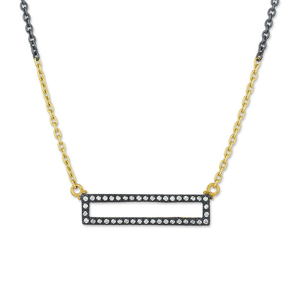 Lika Behar Open Rectangular Diamond Necklace