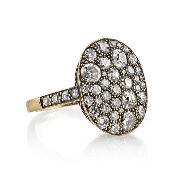 Single Stone Cobblestone Ring