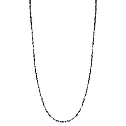 Black Diamond Long Strand Necklace