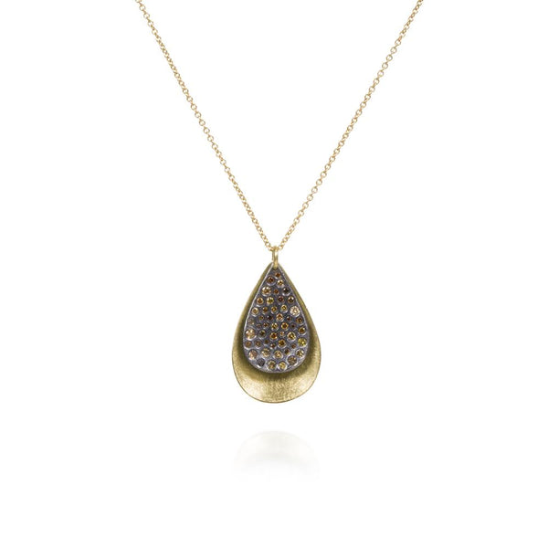 Todd Reed Diamond Tear Drop Pendant