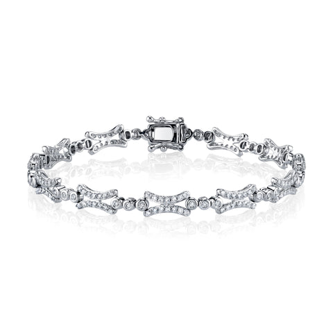Diamond Fancy Link Bracelet
