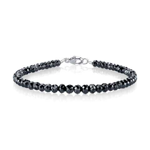 Large Black Diamond Bracelet