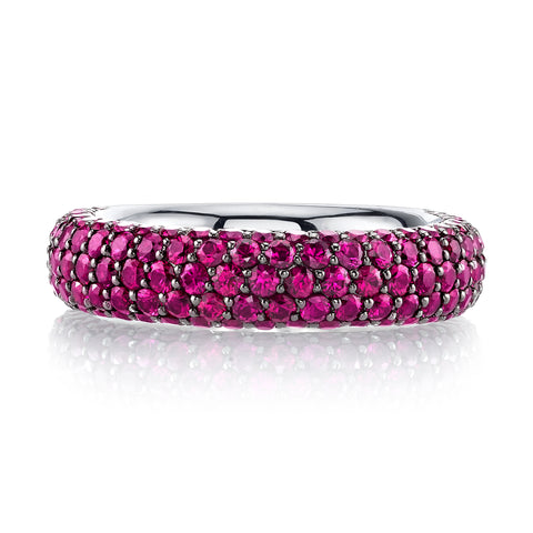 Pave Ruby Ring