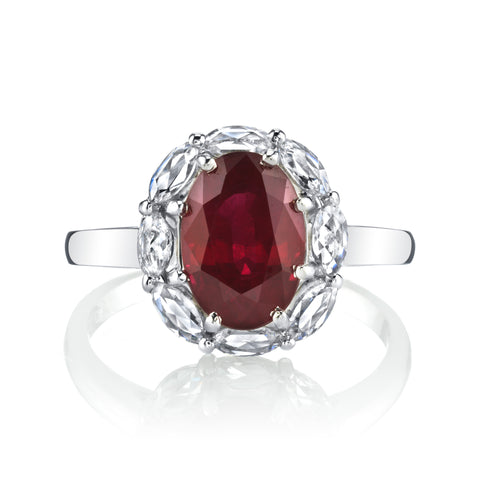 GIA Burmese Ruby Ring