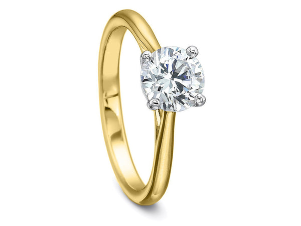 Yellow Gold Diamond Solitaire Ring