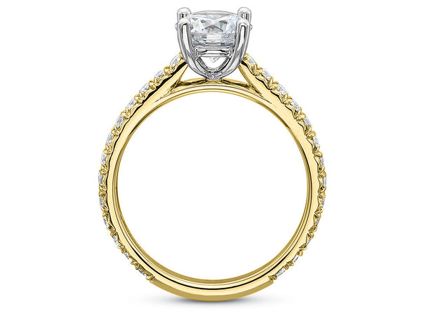 Yellow Gold Petite Diamond Engagement Ring