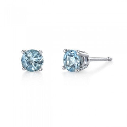 Aquamarine Stud Earrings San Diego