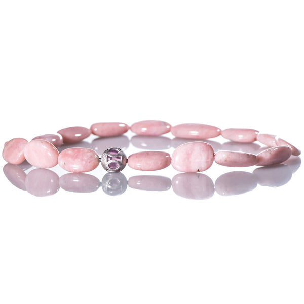 Pink Opal Beaded Necklace by Marcel Roelofs
