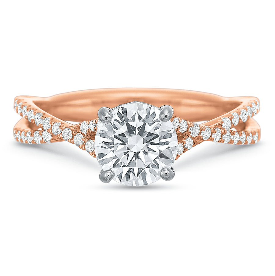 HS Exclusive 'Twist' Engagement Ring Setting