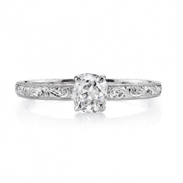 Classic Edwardian Style Single Stone Engagement Ring