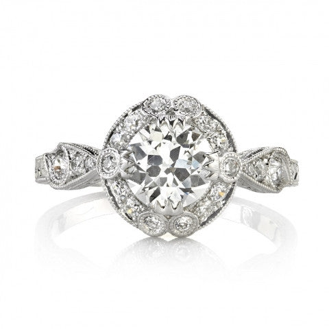 Handcrafted Vintage Inspired Engagement Ring from Single Stone