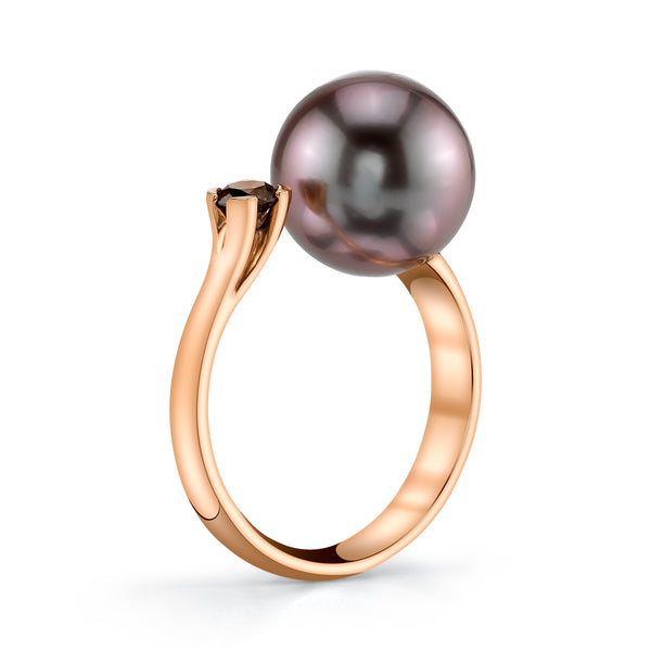 Free Form Pink Pearl Ring