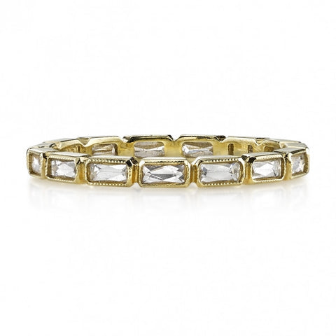 French Cut Diamond Band, Julia, by Single Stone