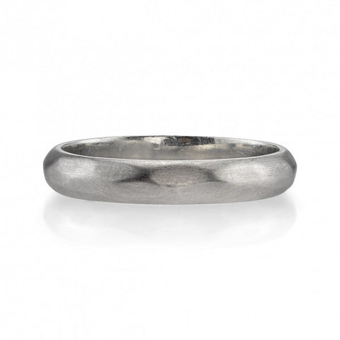 Hammered Platinum Band