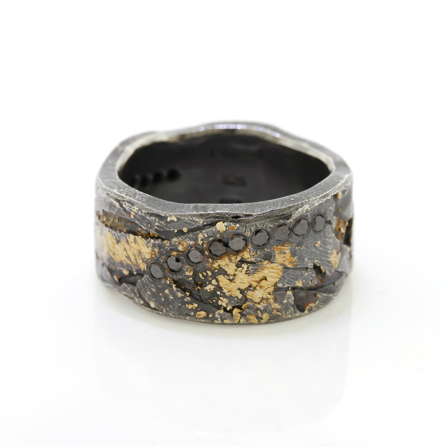 Todd Reed Black Diamond & Gold Band