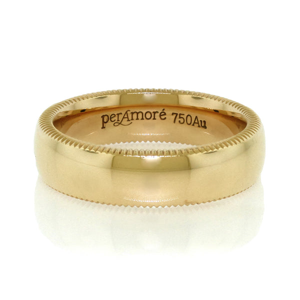 Per Amore Rose Gold Mens Wedding Band