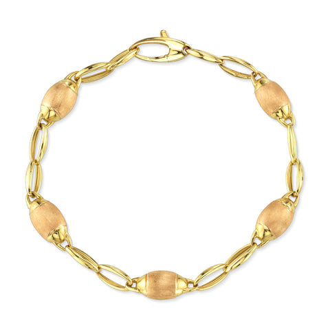 Two-Tone Yellow Gold Link Bracelet
