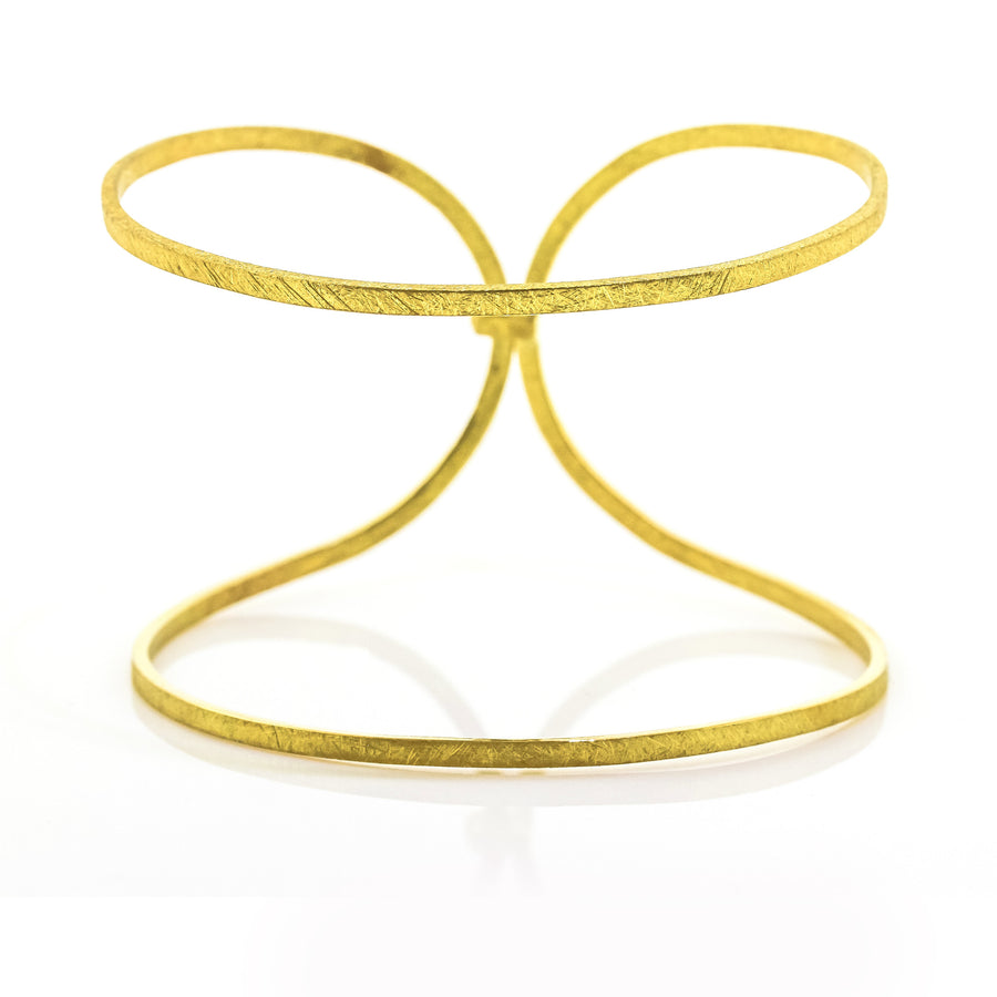 Majoral Satin Textured Yellow Gold Bracelet