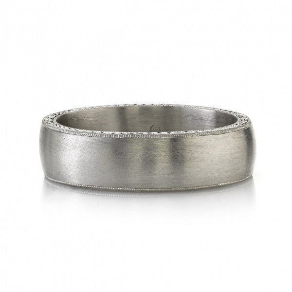 Single Stone Mens Wedding Band - Joseph