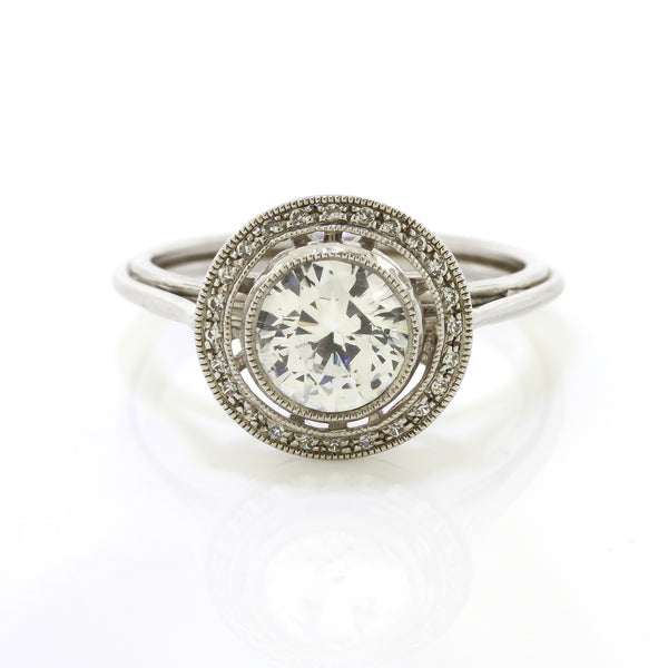 Vintage Bezel Set Engagement Ring