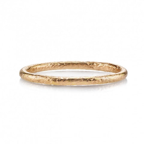 Textured Rose Gold Band by Single Stone
