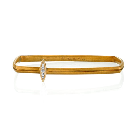 Bronze & White Gold Diamond Bangle
