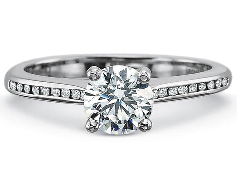 Platinum Channel Set Diamond Engagement Ring