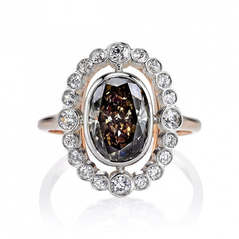 Single Stone Designed Vintage Autumn Ring