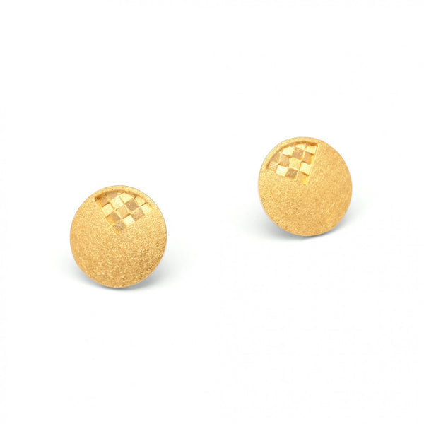 Gold Matte plated Sterling Silver Earrings by Bernd Wolf