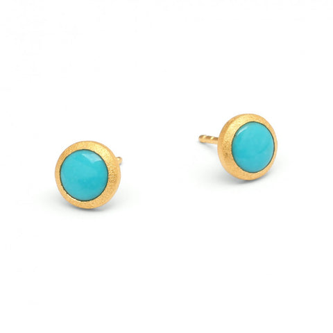 Turquoise Circle Studs by Bernd Wolf