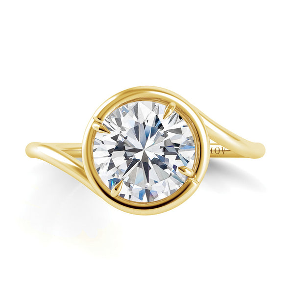 Danhov Abbraccio Yellow Gold Diamond Engagement Ring