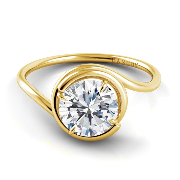 Danhov Abbraccio  Swirl Diamond Engagement Ring