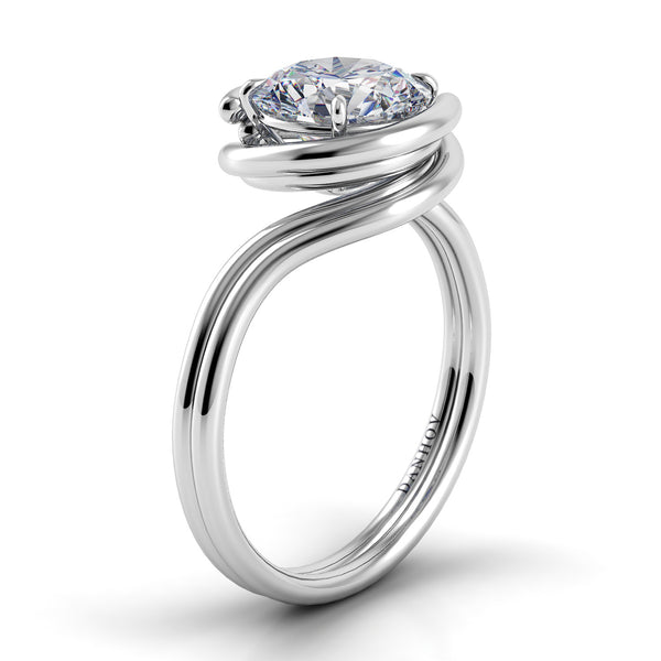Danhov Abbraccio Double Swirl Diamond Engagement Ring