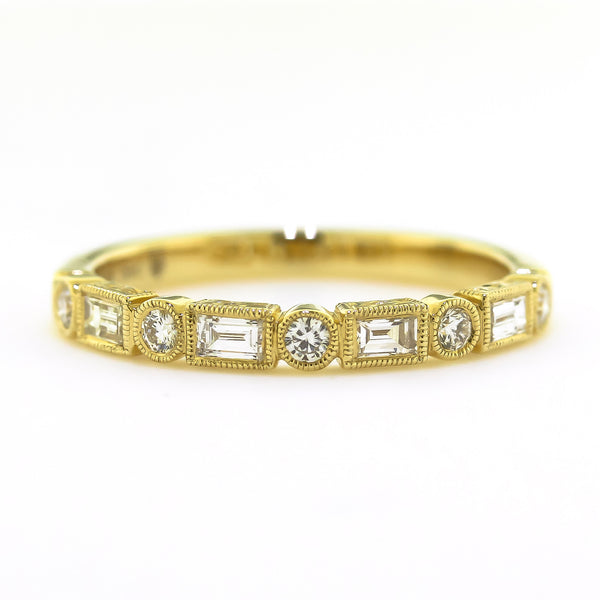 Yellow Gold Stackable Diamond Ring