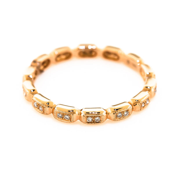 Rose Gold Stackable Diamond Ring