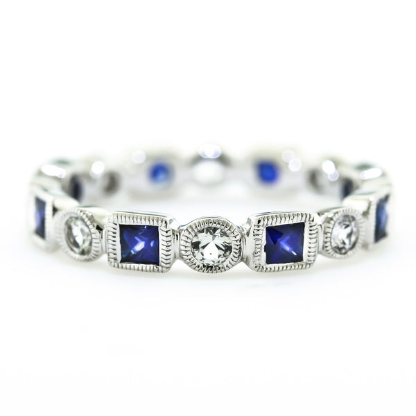 White Gold Sapphire Eternity Band