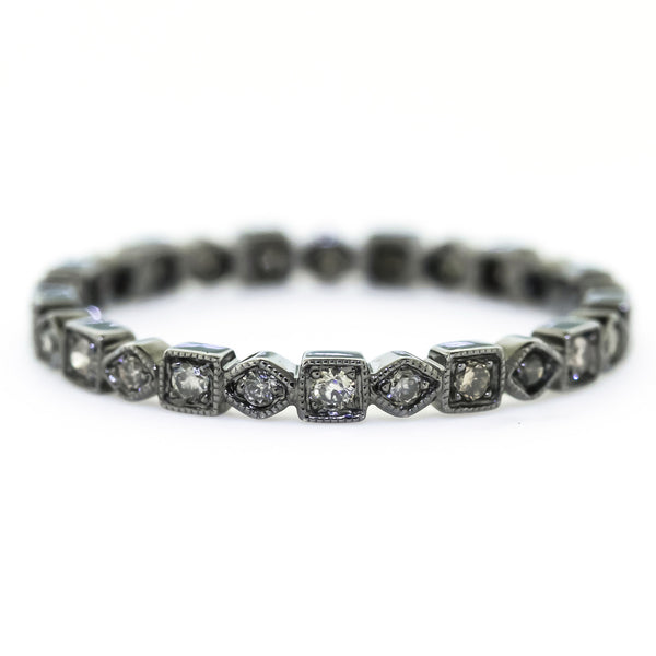 Black Cognac Diamond Band