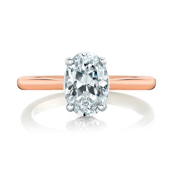 Rose Gold Oval Diamond Solitaire