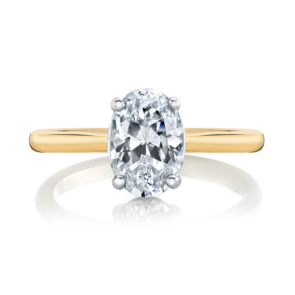 Yellow Gold Oval Cut Diamond Solitaire
